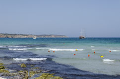 Mediterranean sea. At summer day. Mellieha, Malta Island, Europe Stock Photo