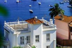 Mediterranean sea summer day view. Cote d'Azur, France. Stock Photos