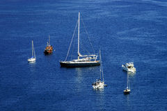 Mediterranean sea summer day view. Cote d'Azur, France. Royalty Free Stock Photo