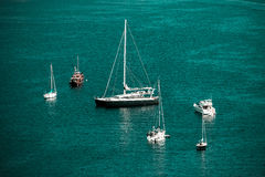Mediterranean sea summer day view. Cote d'Azur, France. Royalty Free Stock Images