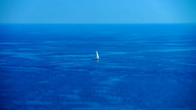 Mediterranean sea summer day view. Cote d'Azur, France. Royalty Free Stock Photography