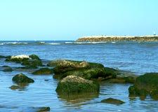 Mediterranean sea in the summertime stock image