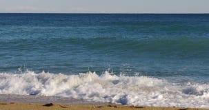Mediterranean sea sunny day waves  4k spain. Spain mediterranean sea sunny day waves  4k stock video