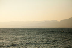Mediterranean sea at sunrise Royalty Free Stock Images
