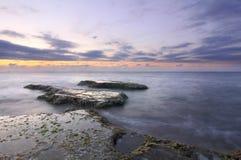 The Mediterranean Sea sunset. Sunset on the Mediterranean Sea, Lebanon Royalty Free Stock Image