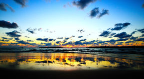 Mediterranean sea sunset Royalty Free Stock Image