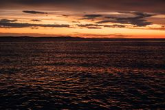 Mediterranean sea at sunset Stock Photo
