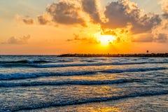 Mediterranean Sea sunset Royalty Free Stock Photography