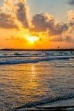 Mediterranean Sea sunset Royalty Free Stock Photo