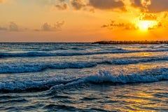 Mediterranean Sea sunset Stock Photo