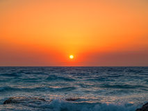 Mediterranean sea sunset Stock Image