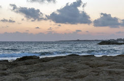 Mediterranean Sea sunset in Paphos, Cyprus. Stock Photography