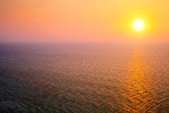 Mediterranean Sea at sunset Stock Photo