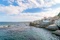 Mediterranean sea in Syracuse, Sicily, Italy Royalty Free Stock Image