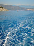 Mediterranean sea  in turkey Royalty Free Stock Image
