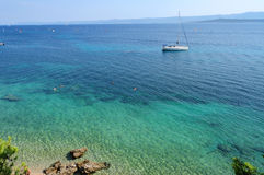 Mediterranean Sea. Typical blue-green color of the Mediterranean Sea Stock Image