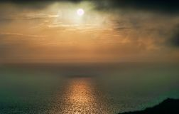 Mediterranean sea view from Dingli cliffs, Malta. Royalty Free Stock Images