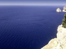 Mediterranean Sea - a view from Formentor Stock Photos