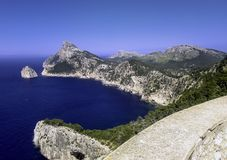 Mediterranean Sea - a view from Formentor. Majorca, Spain Royalty Free Stock Photos