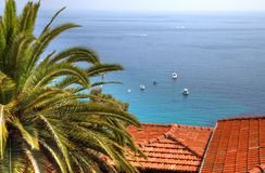 Mediterranean sea view from mountain. Stock Images