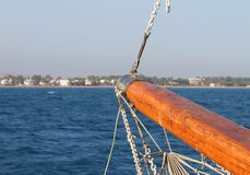 Mediterranean Sea View from Prow of The Yacht Stock Photos