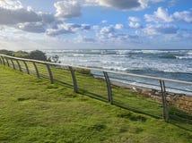 Groomed promenade of the Mediterranean Sea in Israel, the city of Haifa. royalty free stock photos