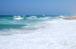 Mediterranean sea. Waves running on the coast of Mediterranean sea Royalty Free Stock Photo