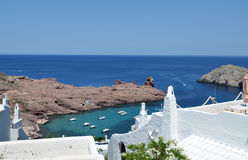 Mediterranean Sea and white houses Royalty Free Stock Image