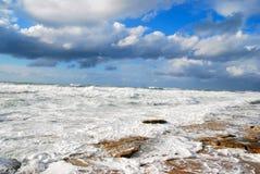 Mediterranean Sea in winter Stock Photos