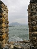 Mediterranean sea in winter stock image