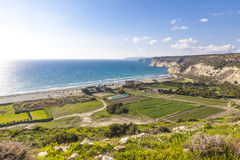 Mediterranean seacoast on Cyprus Stock Images