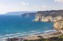 Mediterranean seacoast on Cyprus Royalty Free Stock Photo
