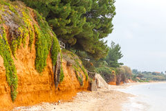 Mediterranean seacoast in winter. Halkidiki, Greece Stock Photography