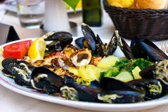 Mediterranean seafood Royalty Free Stock Photos