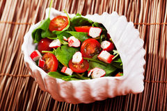 Mediterranean seafood salad Stock Photography