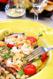 Mediterranean Seafood Saute Royalty Free Stock Image