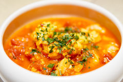 Mediterranean seafood soup Royalty Free Stock Photography