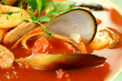 Mediterranean Seafood Soup Royalty Free Stock Photo