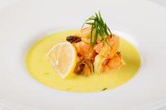 Mediterranean seafood soup Stock Photo