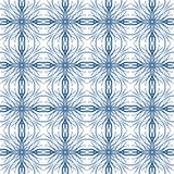 Mediterranean seamless vector pattern. White and blue vector pattern imitating Mediterranean ceramic tiles design. drawn with thick and thin lines, seamless Royalty Free Stock Photography