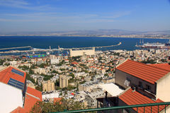 Mediterranean seaport of Haifa Israel Royalty Free Stock Images
