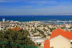 Mediterranean seaport of Haifa Israel Stock Photography