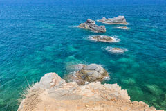 Mediterranean seascape near San Javier Royalty Free Stock Photo