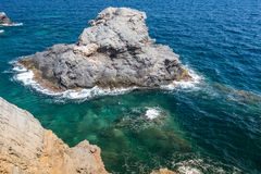 Mediterranean seascape near San Javier Royalty Free Stock Images