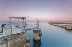 Mediterranean seascape in Nice, France Stock Photography