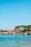 Mediterranean shore of Cyprus island Stock Photos