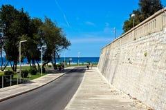 Mediterranean seaside promenade. Zadar, Croatia Royalty Free Stock Photo