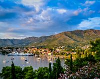 Mediterranean seaside resort Stock Images