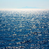 in mediterranean see greece island and the  background hill Royalty Free Stock Photography