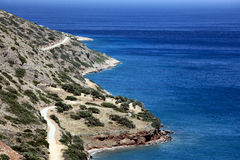 Mediterranean shore near Plaka, Crete, Greece Royalty Free Stock Images
